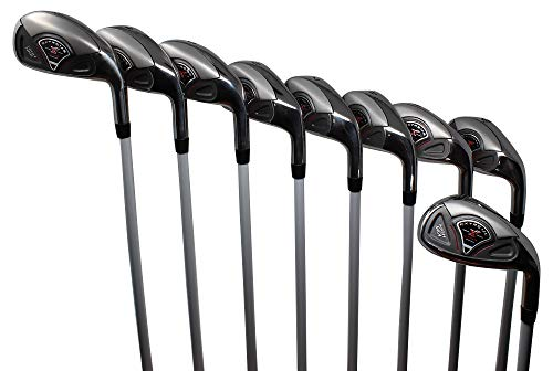 Extreme X7 High MOI +1 inch Over Big & Tall Men's Complete 9-Piece Iron Set (3-SW) Right Handed Callaway Regular R Flex Graphite Shafts (Tall 6'0