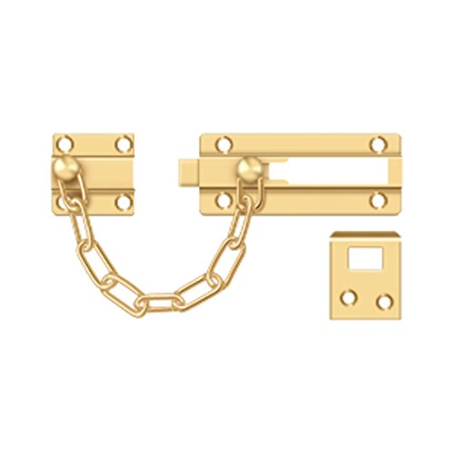 Deltana CDG35CR003 Solid Brass Chain Door Guard