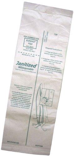 Janitized BIO-EUF&G-4(5) Biodegradable Paper Premium Replacement Commercial Vacuum Bag, For Clarke ReliaVac, Eureka, Hawk, Koblenz, Advance ReliaVac and Powr Flite (10 - 5 packs) - Hawk Floor Machine