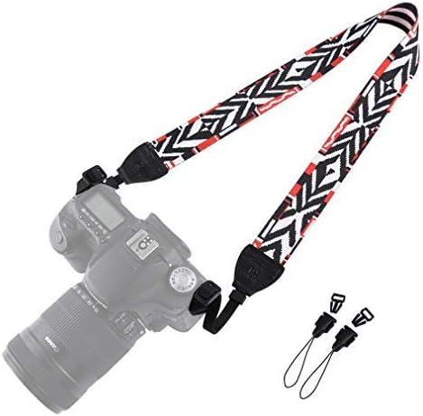 Wolven DSLR/SLR Camera Neck Shoulder Belt Strap Compatible for All DSLR/SLR/Digital Camera (DC)/Instant Camera/Polaroid Etc, White Black Stripe [並行輸入品]