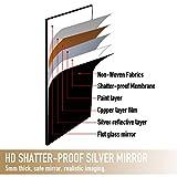 "Aluminum Alloy Thickened Frame-65""x22"", Full Length Mirror, Floor Mirror, Standing Mirror, Full Body Mirror, Large Mirror, Floor Length Mirror, Wall Mirror, Black Mirror, Black Aluminum Frame"