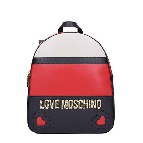 Blanco Love Mochila Jc4338pp06 Mujer Pequeña Moschino qw61AwZX