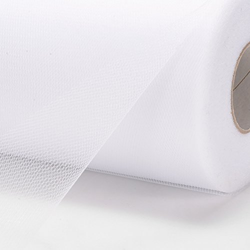 Haperlare 6 Inch x 200 Yards (600FT) White Tulle Rolls Tulle Spool White Tulle Fabric Rolls Wedding Tulle for Gift Bow Craft Tutu Skirt Wedding Party Decorations by Haperlare (Image #9)