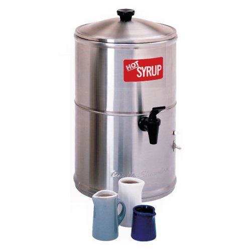Wilbur Curtis Syrup Warmer 2.0 Gallon Syrup Container - Stainless Steel and Temperature Controls - SW-2 (Each) by Wilbur Curtis