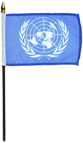 Us Flag Store United Nations Flag, 4 by 6-Inch