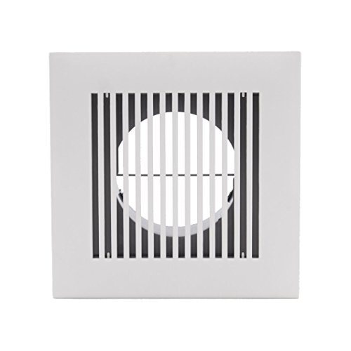 HG POWER 4 Inch Diameter Soffit Vent Adjustable Square Louver ABS Intake Vent Grill Cover White ()