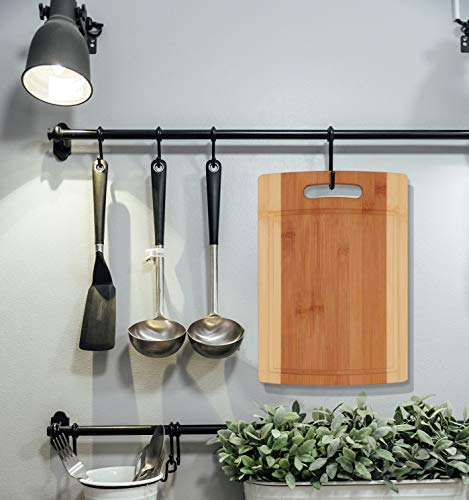 Utopia Kitchen Natural Bamboo Cutting Boards for Kitchen with Juice Groove Wooden Cutting Board Set of 3 - Chopping Boards for Vegetable, Fruits, Meat and Cheese by Utopia Kitchen (Image #5)