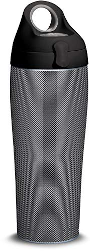Tervis 1309332 Carbon Fiber Pattern Stainless Steel Insulated Tumbler with Black with Gray Lid, 24oz Water Bottle, Silver