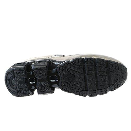 Porsche Design M Bounce S4 Leather II Fashion Running Sneaker Shoe - Gun Metal / Gun Metal / Black - Mens - 9