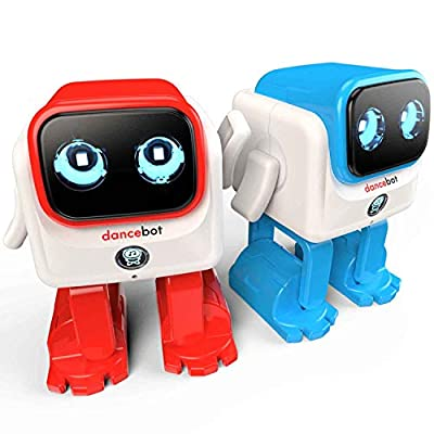 ECHEERS Dance Robot Toys for Kids, Boys and Girls, Educational Music Dancing Robot Kids Toys, Rechargeable Music Robot Speaker Follow Beats Rhythm, 3 Years+