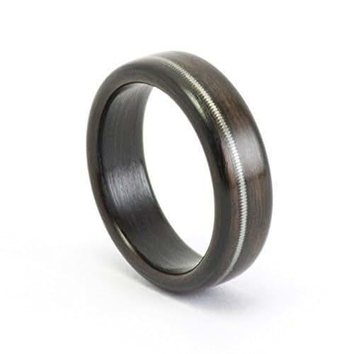 the man 39 s ring wood ring wooden ring ebony wood guitar string ring men wooden. Black Bedroom Furniture Sets. Home Design Ideas