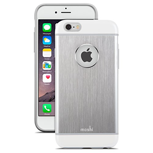 Moshi iGlaze Armour Premium Aluminum Case for iPhone 6/6s (Jet Silver) ()