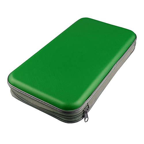 Kaimao Portable Plastic 80pcs Disc CD DVD Wallets Storage Organizer Bags Cases Green