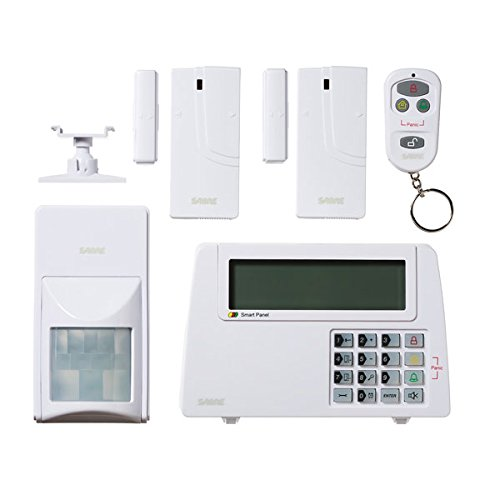 SABRE Home Expandable Wireless Burglar Alarm Security System - Includes Motion Door and Window Sensors LCD Touch Screen Display and Remote Control Key FOB - DIY EASY Installation ()