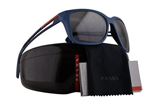 Prada PS03TS Sunglasses Matte Blue w/Polarized Grey Gradient Mirror Lens 59mm B522F2 SPS03T PS 03TS SPS - Sunglasses Gomez In Selena