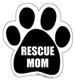 Kyпить Rescue Mom Paw Magnet - Black на Amazon.com