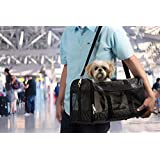 Sherpa Travel Original Deluxe Airline Approved Pet Carrier, Large, Black Lattice Stitching