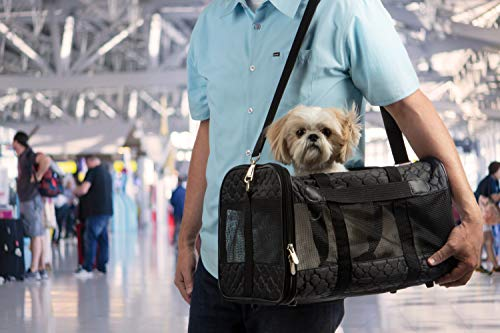 - Sherpa Travel Original Deluxe Airline Approved Pet Carrier, Large, Black Lattice Stitching