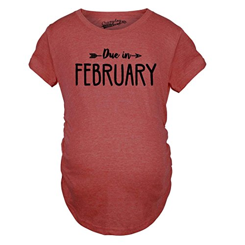 Due Shirts Funny Pregnant Tshirts Crazy in Announce Pregnancy February di Magliette Maternity Month maternità Divertente Shirt Shirts Dog Rosso T qwfqnxvt