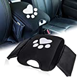 Yoursme Neoprene Center Console Armrest Pad Cover with Pockets Storage Bag for Jeep Wrangler JK JKU Sahara Sport Rubicon X & Unlimited 2011 2012 2013 2014 2015 2016 2017 with Dog Paws Print
