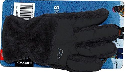 (HEAD JR ThermalFUR Fleece Gloves - Child Size (Black, Large))