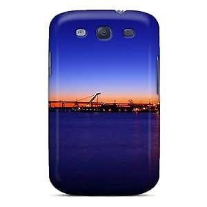 Excellent Galaxy S3 Case Tpu Cover Back Skin Protector Yokohama Bay Bridge At Dusk