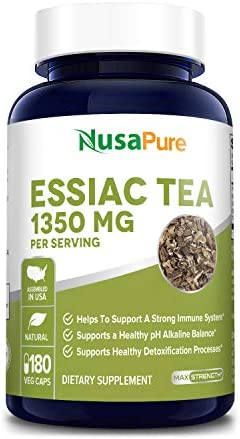 Essiac Tea 1350mg 180 Vegetarian Caps Non-GMO Gluten Free Supports a Healthy Immune System