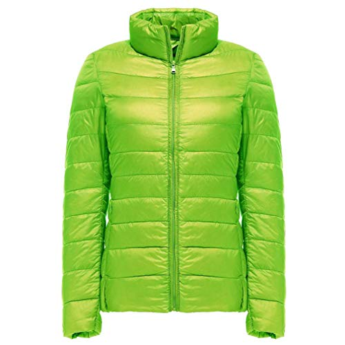 Bangyin Automne Hiver Ultra Lger Down Jacket Femmes Coupe Femmes Lger Packable Down Manteaux Down Green