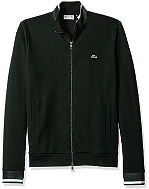 Men's Full Zip Pique Fleece Sweatshirt