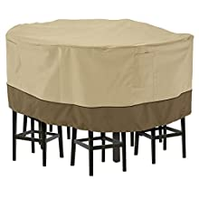 Classic Accessories Veranda Tall Round Patio Table & Chairs Cover, Large