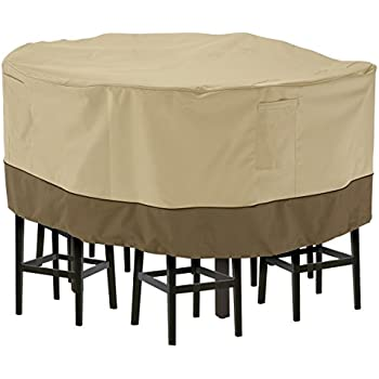 amazon com classic accessories veranda round patio table and chair rh amazon com