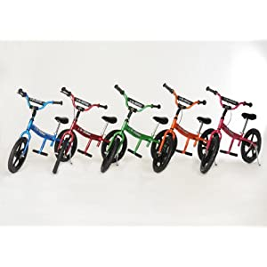 Glide Bikes Kid's Go Glider Balance Bike, Blue, 16-Inch
