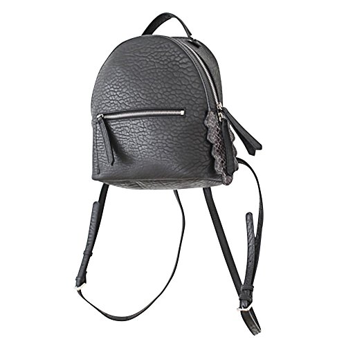 VF P901 Python Tail Leather Backpack Black by Violett-Backpacks