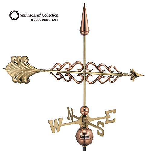 Good Directions Smithsonian Arrow Weathervane, Pure Copper