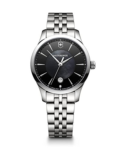 - Victorinox Women's Alliance Swiss-Quartz Watch with Stainless-Steel Strap, Silver, 17 (Model: 241751)
