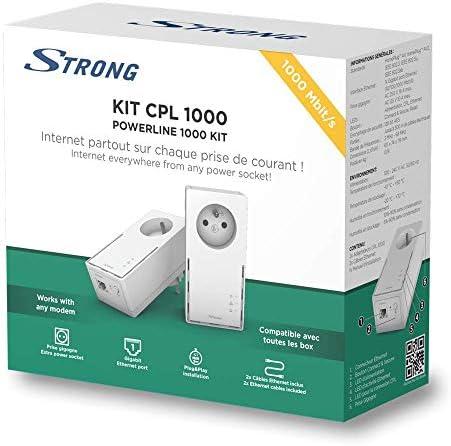Strong Cpl 1000 Mbps Set Mit 2 Adaptern Cpl Mit Computer Zubehör