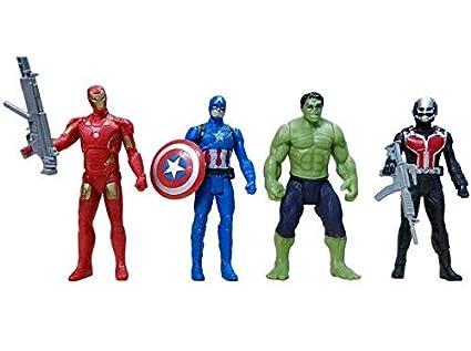 "AVENGERS 2 figurine 4.5/"" Action Figures-Hulk Thor Captain America Ant-Man-NEUF"