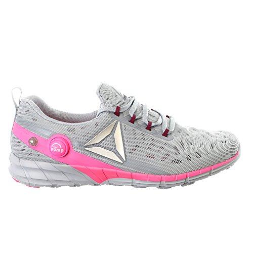 Reebok Women's Zpump Fusion 2.5 Walking Shoe, Cloud Grey/Rebel Berry/Poison Pink/Silver Metallic, 7.5 M US