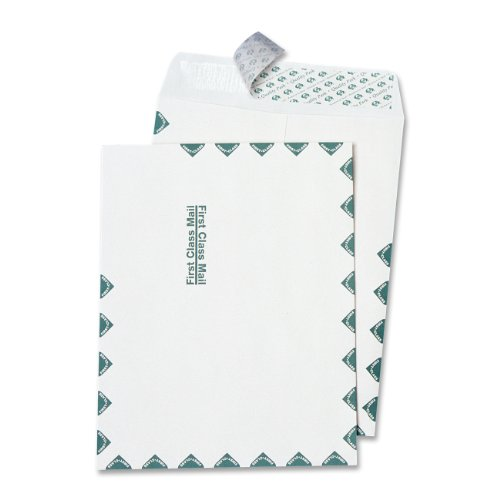 Quality Park, Catalog Envelope, Redi-Strip, First Class Border, White, 10x13, 100 per box ()