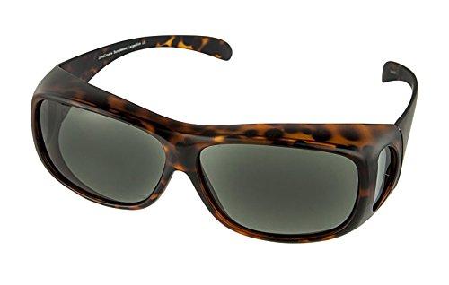 LensCovers Wear Over Sunglasses for Men and Women. Size Large Slim Tortoise ()