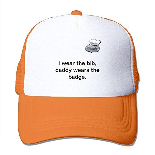 ooiilpe Men&women Police Baby Onsie Outdoor Hip Hop Tennis Cotton Mesh Mesh Hat Adjustable
