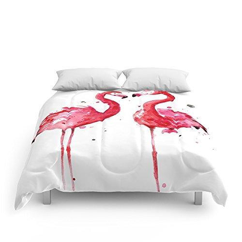 "Society6 Flamingo Comforters Full: 79"" x 79"""