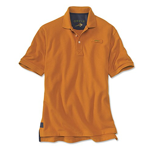 Men's The Orvis Signature Polo / Tall, Amber, X Large