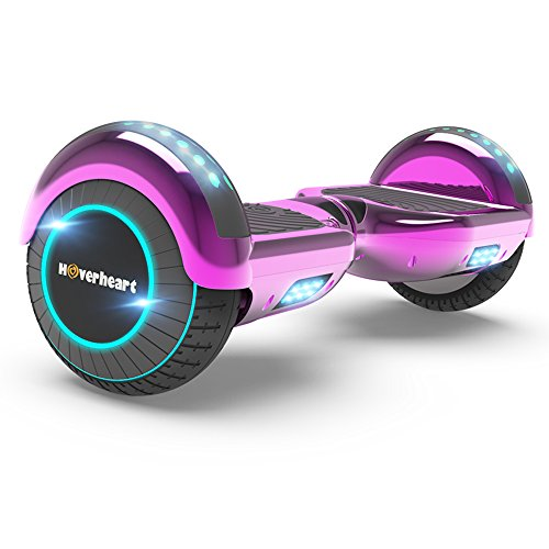 - Hoverboard Two-Wheel Self Balancing Electric Scooter UL 2272 Certified, Metallic Chrome with Bluetooth Speaker and LED Light (Chrome Pink)