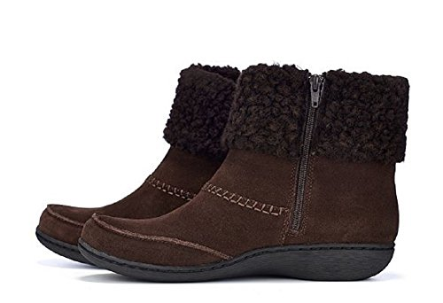 Cuff Boot With Suede Ankle Fianna Clarks Wide Fit uk6 Brown Cosy Joy WpqO04