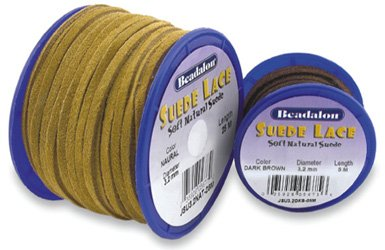 (Suede Lace 3.2mm Brown 5M/16.4Ft Long)