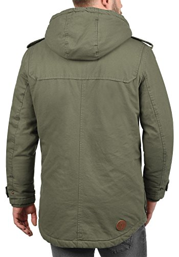 100 Made Men's Jacket Forster Teddy Solid Outdoor Green 3797 Cotton Fleece Winter Hood Ivy w8ztxdZ