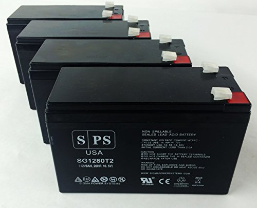 Replacement Battery for Eaton Powerware PW5130L2200-XL2U 12V 8Ah UPS Battery (4 pack)
