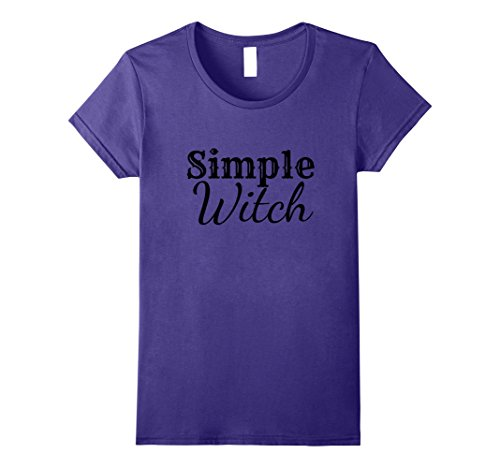 Womens Simple Witch Halloween Costume T Shirt Adult Youth XL (Female Witch Doctor Halloween Costume)
