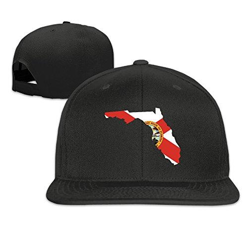 LOOKNAP Unisex Adult Florida Flag Gun Plain Adjustable Snapback Cool Baseball Hat Black Wholesale Cap Guns